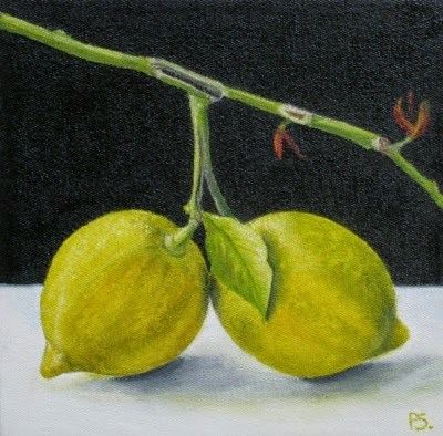 """Lemon Twins"" original fine art by Pera Schillings"