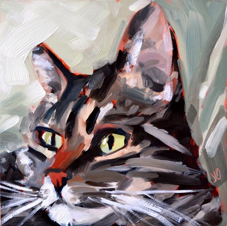 """Raffy"" original fine art by Jessica Green"