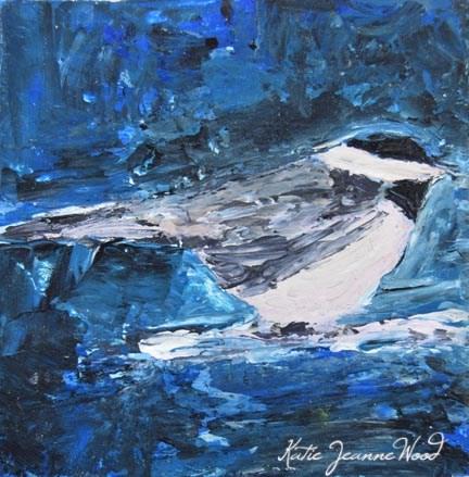 """""""Bird Series No 7"""" original fine art by Katie Jeanne Wood"""