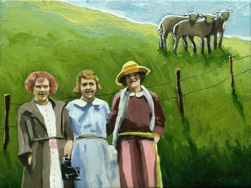 """Down on the Farm"" original fine art by Linda Apple"