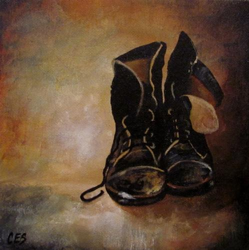 """Old Boots"" original fine art by ~ces~ Christine E. S. Code"