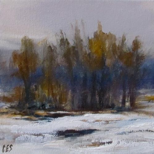 """Winter Trees"" original fine art by ~ces~ Christine E. S. Code"