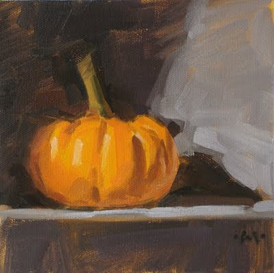 """Shadow Pumpkin"" original fine art by Carol Marine"