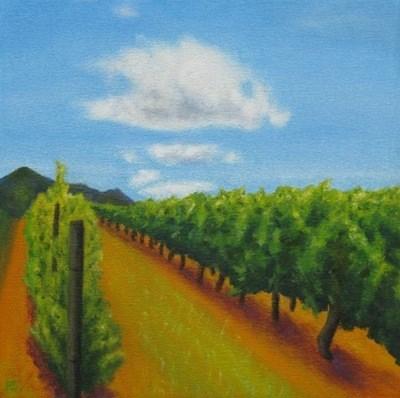 """Magical Stellenbosch II"" original fine art by Pera Schillings"