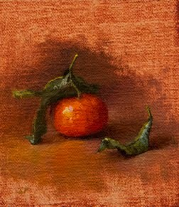 """Clementine from a Bologna Market (Italy painting #3)"" original fine art by Abbey Ryan"