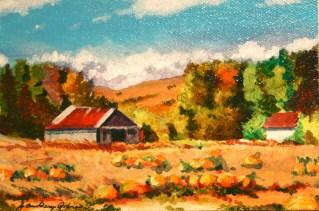 """September Barn"" original fine art by JoAnne Perez Robinson"
