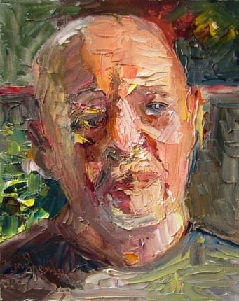 """Dad in the Sun One"" original fine art by Carol Steinberg"