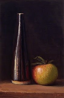 """Camphill Apple with a Tall Bottle"" original fine art by Abbey Ryan"