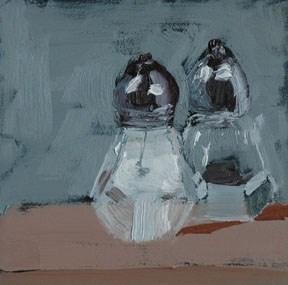 """SALT AND PEPPER"" original fine art by Linda Popple"