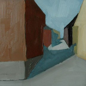 """NORWAY - GOOGLE STREET VIEW"" original fine art by Linda Popple"