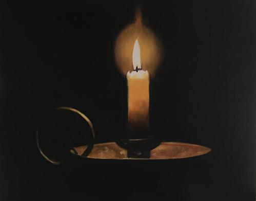 """Candle"" original fine art by James Coates"