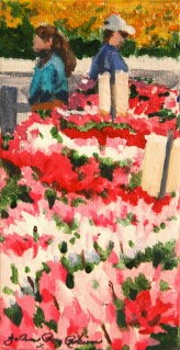 Rotary Flower Sale original fine art by Joanne Perez Robinson