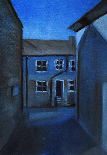 """""""St Ives Shadows"""" original fine art by J M Needham"""