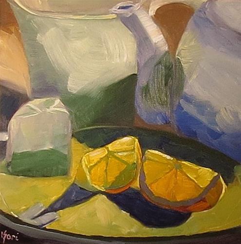 """Tea with Lemon"" original fine art by Kari Melen"