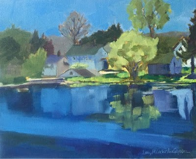 """#183 Spring at the Grist Mill"" original fine art by Libby Gilpatric"