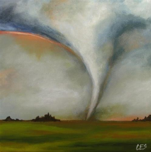 """Tornado Season"" original fine art by ~ces~ Christine E. S. Code"