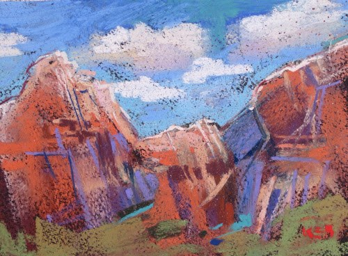 """Discovering a Desert Oasis...Zion National Park"" original fine art by Karen Margulis"