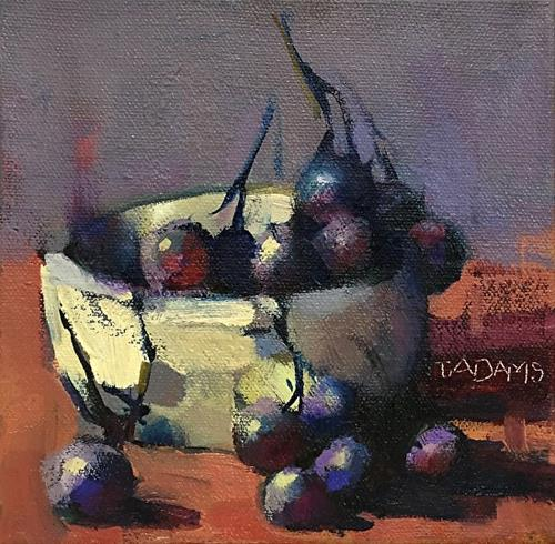 """Bowl of Grapes"" original fine art by Trisha Adams"