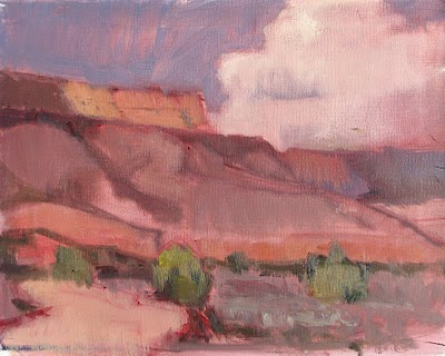 """Abiquiu Start"" original fine art by V.... Vaughan"