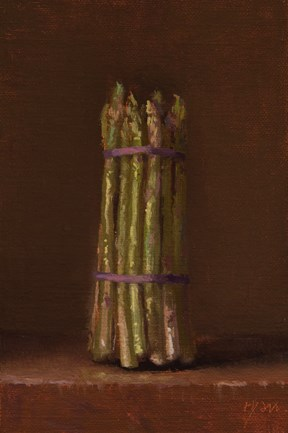 """Spring Asparagus  (+ NEW Workshop this Fall at Peto Museum)"" original fine art by Abbey Ryan"