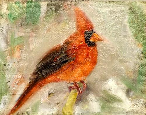 """Bird,M27"" original fine art by Run-      Zhang Zane"