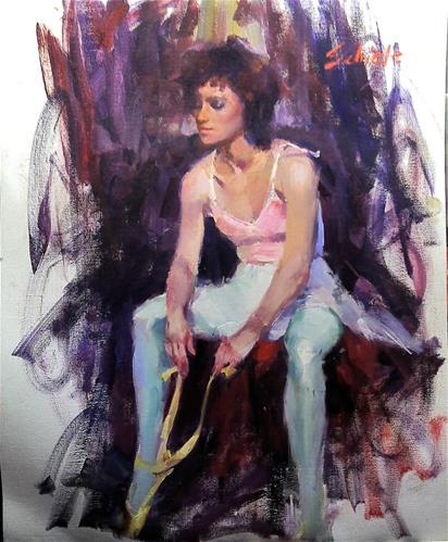 """ballerina"" original fine art by Richard Schiele"