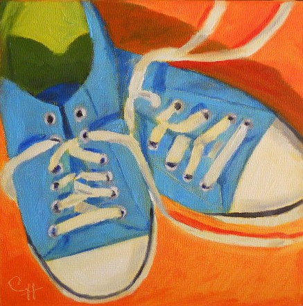 """""""Anna's Shoes"""" original fine art by Claire Henning"""