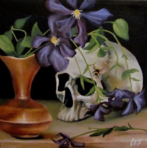 """Clematis Vanitas"" original fine art by ~ces~ Christine E. S. Code"