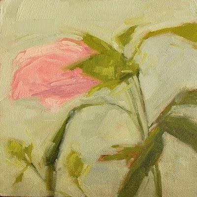 """""""Closed Hibiscus"""" original fine art by Laurel Daniel"""