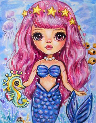 """Mermaid Jule"" original fine art by Nicole Chen"
