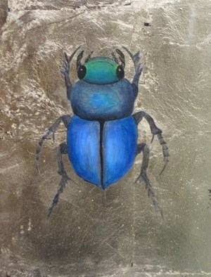 """Scarabidae Africana IV"" original fine art by Pera Schillings"