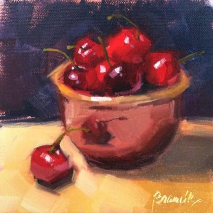 """Cherries Soufflé"" original fine art by Candace Brancik"