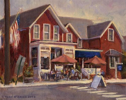 """""""The Local Café"""" original fine art by tony damico"""