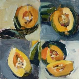 """""""Oil sketches: Acorn Squash"""" original fine art by Deb Anderson"""