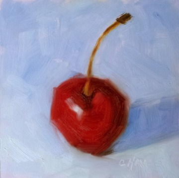 """Chubby Cherry No. 2"" original fine art by Cindy Haase"