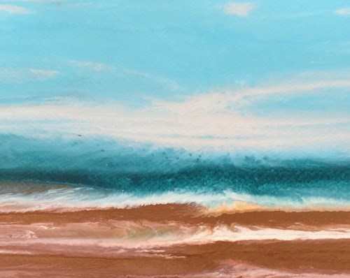 """Abstract Seascape Painting Rolling in X by Colorado Contemporary Artist Kimberly Conrad"" original fine art by Kimberly Conrad"