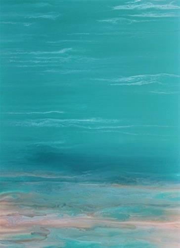 """Abstract Seascape Painting Whispers on the Water II  by Colorado Contemporary Artist Kimberly Conr"" original fine art by Kimberly Conrad"