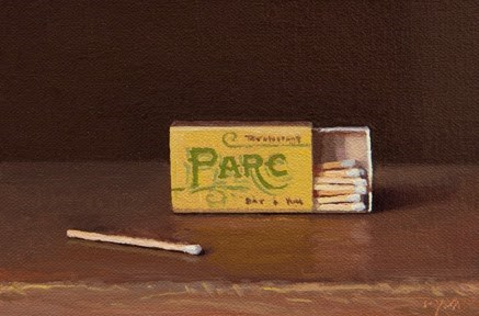 """Matches from Parc Brasserie"" original fine art by Abbey Ryan"