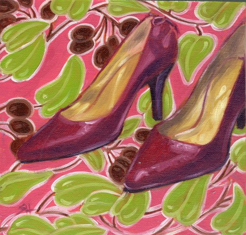 """Di's cute pumps"" original fine art by Sandy Haynes"