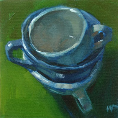 """Stack of Cups --- SOLD"" original fine art by Carol Marine"