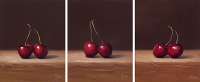 """Happy Valentine's Day (Cherries)"" original fine art by Abbey Ryan"