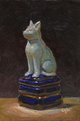 """Cat Box"" original fine art by Raymond Logan"