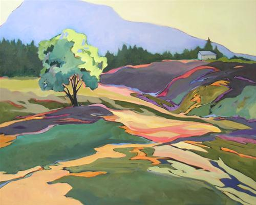 """""Greenberry Road,"" contemporary landscape painting"" original fine art by Carolee Clark"