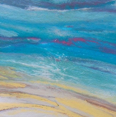"""Original Contemporary Abstract Seascape Painting Summer Remembered V by Colorado Contemporary Arti"" original fine art by Kimberly Conrad"