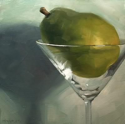"""Pear-tini"" original fine art by Michael Naples"