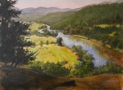 """Morning at Pratt Rock"" original fine art by Jamie Williams Grossman"