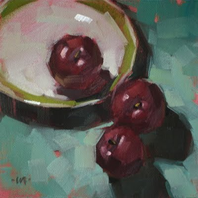 """Hasty Escape"" original fine art by Carol Marine"