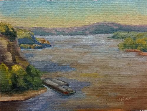 """""""Trail of Tears Overlook-en plein air"""" original fine art by Veronica Brown"""