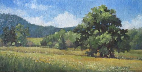 """""""Peaceful Day at Plum Run"""" original fine art by Claire Beadon Carnell"""
