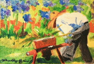"""Yard Work"" original fine art by JoAnne Perez Robinson"